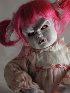 Porcelain Vampire Doll Cute Horror Gothic Goth via Etsy Creepy Baby Dolls, Creepy Toys, Vampire Rave, Living Dead Dolls, Haunted Dolls, Gothic Dolls, Halloween Doll, Halloween Party, Little Doll