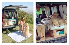 A UK woman converted her van to be the ultimate canine RV so she could travel with her rescued Labradoodle.
