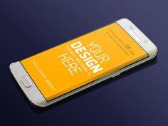 Free Samsung Galaxy S6 Edge Mockup (8 MB)   By Igor Reif on Dribbble.com