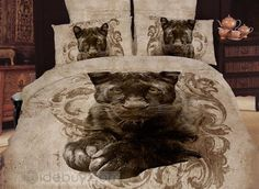 Visual Leopard Print Whole Cotton 4 Piece Comforter Bedding Sets tidebuy.com