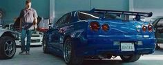 """Nissan Skyline GT-R driven by Paul Walker in """"Fast & Furious"""". R34 Gtr, Nissan Gtr Skyline, Gtr Nissan, Godzilla, Cadillac, Import Cars, Sweet Cars, Fast And Furious, Motor Car"""