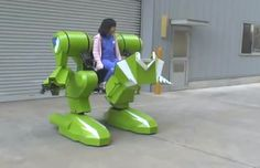 Japanese Company Invents Giant Robot That Kids Can Actually Ride In - DesignTAXI.com
