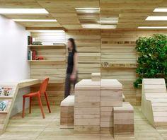 Una oficina hecha de palets: Pop-Up Office, de Dubbeldam Architecture + Design