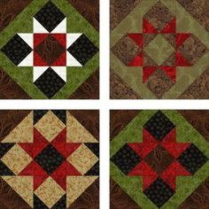 Have Fun Experimenting With Fabrics for Saw Tooth Patchwork Quilt Blocks   ***Scroll down for instructions***