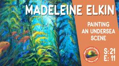 How to paint marine life in acrylics and oils with colour expressionist and artist Madeleine Elkin. Join Madeleine in her studio as she demonstrates painting. Pattern Art, Art Patterns, Acrylic Art, Best Artist, New Artists, Marine Life, Art Techniques, Art Lessons, Colour