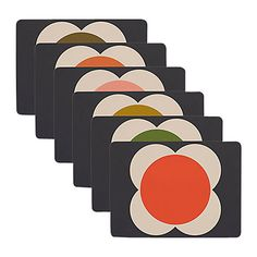 Buy Orla Kiely Flower Spot Placemats, Set of 6 Online at johnlewis.com