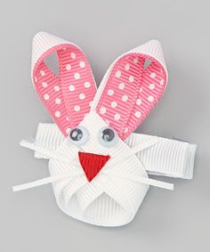 Take a look at this Hot Pink Bunny Face Clip on zulily today!