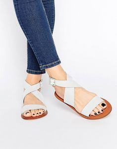 Image 1 of ASOS FRAME Leather Sandals