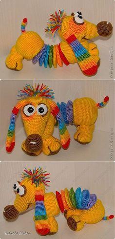 crochet teckel.  Master class par Elena Belova.