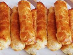 Το τέλειο κολατσιό! Πιροσκί με σφολιάτα Greek Pastries, Hot Dog Buns, Crackers, Bread Recipes, Bakery, Recipies, Food And Drink, Snacks, Cooking