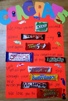Graduation candy poster