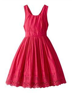 Vestido de cerimónia em puro algodão, para menina