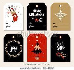 hand painted christmas gift tags - Google Search