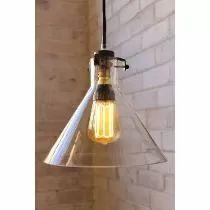 Lampara Vintage Edison Diseño Meridian Cristal Arquitectura