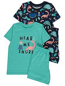 Created in blue and navy hues with short sleeves and crew necks, these jersey pyjamas are a mix and match essential for their pyjama drawer. Kids Patterns, Short Legs, Mix N Match, Printed Shorts, Pyjamas, Cute Outfits, Short Sleeves, Pj