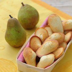 Découvrez la recette Madeleines aux poires sur cuisineactuelle.fr.