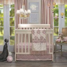 Glenna Jean Remember My Love Mini Crib 2 Piece Bedding Set Includes Dust Ruffle and Fitted Sheet, Pink Princess Crib Bedding, Mini Crib Bedding, Crib Bedding Sets, Girls Bedding Sets, Bedding Sets Online, Baby Mattress, Best Crib, Crib Skirts, Bedding Collections