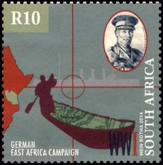 Stamp: German East Africa Campaign (South Africa) (First World War Centenary) Mi:ZA 2322