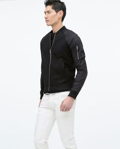 ZARA - COLLECTION SS15 - COMBINED SLEEVE BOMBER JACKET