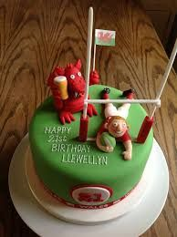 Welsh Rugby Wedding Cake Topper