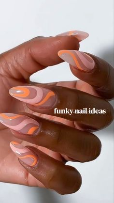 Simple Acrylic Nails, Summer Acrylic Nails, Best Acrylic Nails, Spring Nails, Summer Nails, Acrylic Tips, Cute Gel Nails, Funky Nails, Colorful Nails