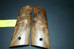 Curly Figured Walnut Magwell DIY FULL SIZE 1911 GRIPS COLT/Clones Wood .45 8rd #206Grips