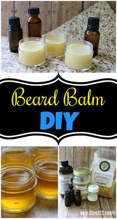 To Make Beard Balm! How to Make Beard Balm! Beard beard oil recipeHow to Make Beard Balm! Homemade Beard Oil, Diy Beard Oil, Beard Oil And Balm, Beard Wax, Best Beard Balm, Man Beard, After Sun, Le Psoriasis, Beard Butter