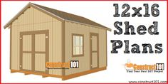 Free shed plans include gable, gambrel, lean to, small and big sheds. Free how to build a shed guide. Shed Plans 12x16, Lean To Shed Plans, Wood Shed Plans, Shed Building Plans, Diy Shed Plans, Coop Plans, Free Shed Plans 10x12, Simple Workbench Plans, Bird House Plans