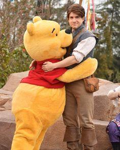 Flynn and Pooh Bear