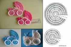 Crochet comparido added a new photo. Crochet Leaf Patterns, Crochet Leaves, Crochet Diagram, Crochet Chart, Crochet Motif, Crochet Doilies, Crochet Toys, Crochet Stitches, Crochet Baby