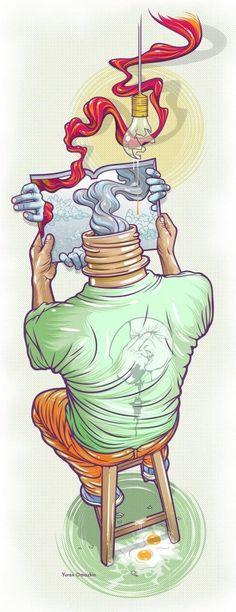 + Ilustração :     As ilustrações surrealistas em vetor de Yurex Omazkin.