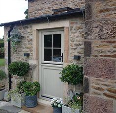 Cottage Front Doors, Front Door Porch, Cottage Door, Cottage Exterior, House Front, Cottage Windows, Front Door Colors, Exterior Doors, Windows And Doors