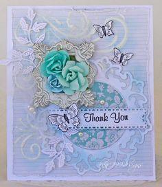 Thank You - Scrapbook.com - beautifully layered card