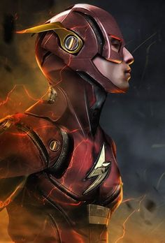 Ezra Miller as The Flash by Bosslogic