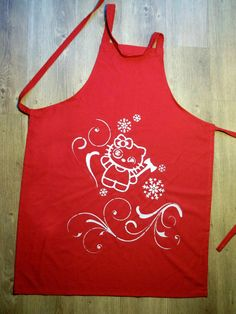 Items similar to Insane Kitty Stencil Printed Apron on Etsy Stencil Printing, Tea Towels, Apron, Stencils, Kitty, Printed, Kitchen, Design, Little Kitty