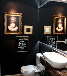 banheiro preto - Minha escolha para a pre-estreia de Um Senhor Estagiário