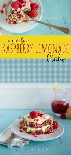 THIS is my favorite! I can't believe it's sugar free! Raspberry lemon cake recipe that will rock your world. A THM E recipe. Swap out the oat flour for THM Baking Blend! Raspberry Lemonade Cake, Lemonade Cake Recipe, Raspberry Lemon Cakes, Raspberry Rhubarb, Trim Healthy Recipes, Trim Healthy Momma, Low Carb Recipes, Cooking Recipes, Sugar Free Desserts