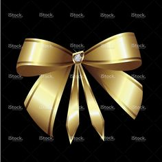 Illustration of Gold ribbon with diamond vector art, clipart and stock vectors. Lotus Logo, Diamond Image, Diamond Vector, Gold Ribbons, Free Vector Art, Image Now, Beautiful Flowers, Clip Art, Bling