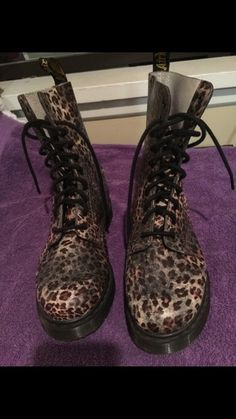 My Leopard Doc Dr. Marten Boots  by Dr. Martens! Size 10.0 for $$65.00. Check it out: http://www.vinted.com/womens-shoes/boots/21479268-leopard-doc-dr-marten-boots.