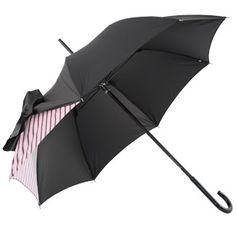 Drape Umbrella in Black and Rose Strip by Chantal Thomass