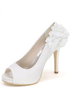 Les femmes en daim synthétique Formel Bride Cheville Noeud Décoration à Talon Haut Compensé Chaussures Mariage