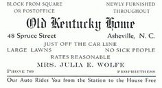 """""""Thomas Clayton Wolfe"""" 