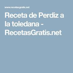 Receta de Perdiz a la toledana - RecetasGratis.net