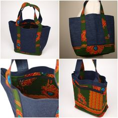 トートバッグ TL08/TM06/TS10 Diy Handbag, African Fashion, Fabrics, Craft Ideas, Sewing, Crafts, Bags, Craft, Trendy Tree
