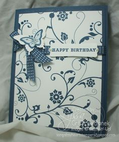 monochromatic birthday card - 7/6/12 blog entry