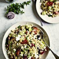 Recept : Řecký kuskus salát | ReceptyOnLine.cz - kuchařka, recepty a inspirace Grains, Rice, Food, Meals, Laughter, Jim Rice, Korn, Brass