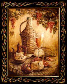 Gregory Gorham - Tuscan Table, Orvieto Art Print