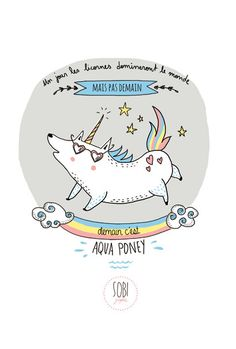 card A6 350 gr choice : Unicorn, cats