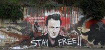 Street Art by DesX. Tribut to Joe Strummer from The Clash. Stay Free