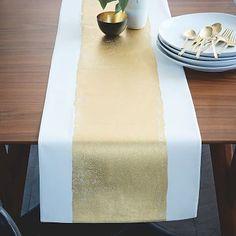 Painted Metallic Table Runner #westelm